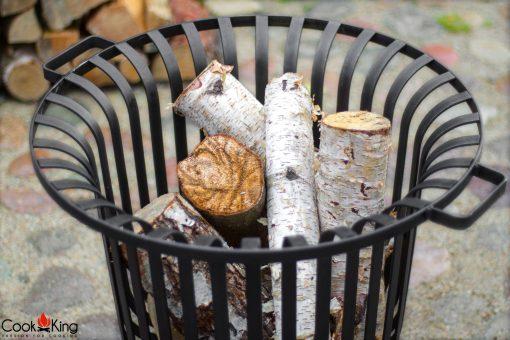 wood fire basket