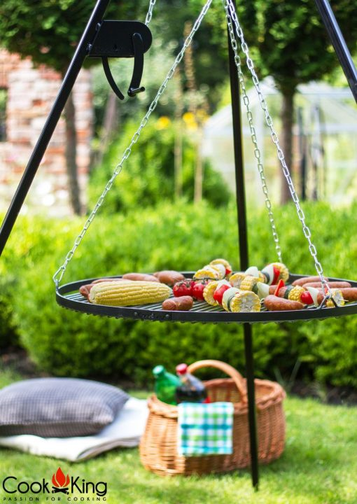 Tripod bbq Grate with Grill