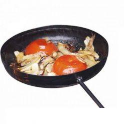 Teflon coated steel frying pan