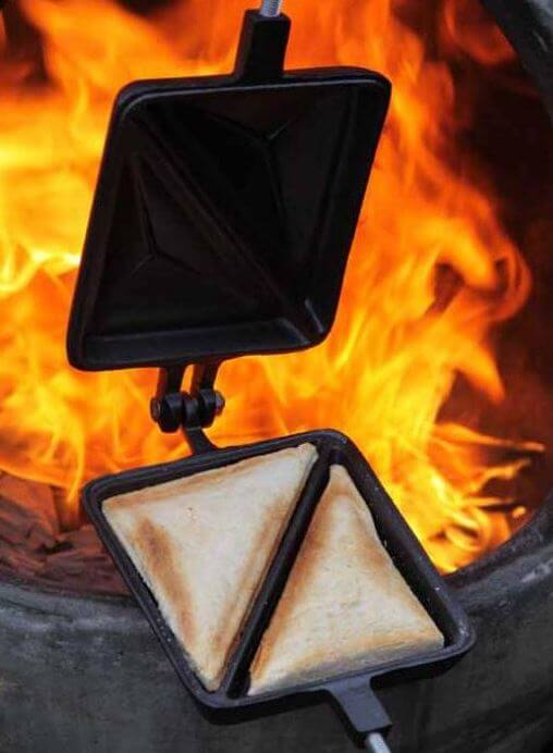 cast iron toastie maker