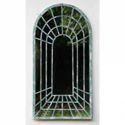 rustic garden mirror