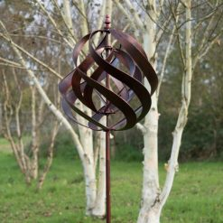 Garden Wind Sculpture Saturn Copper