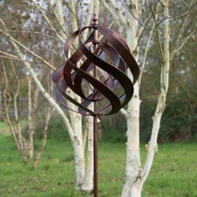 Garden Wind Sculpture Saturn Copper
