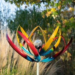 wind sculpture tresco multi-coloured solar
