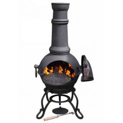 Large Cast Iron Chiminea