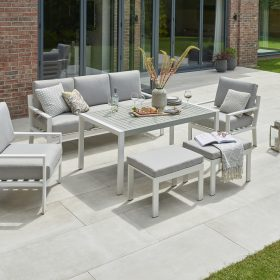 Titchwell Garden Lounge Set White