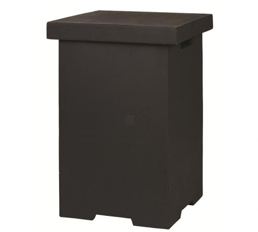 Enclosure Side Table LPG Square Black