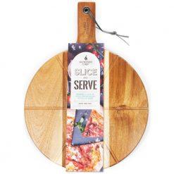 pizza slice and serve board