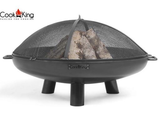 garden fire pit with mesh